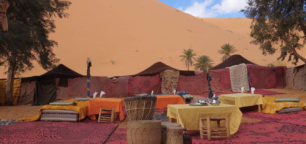 Bivouac, Berber campsite in the desert