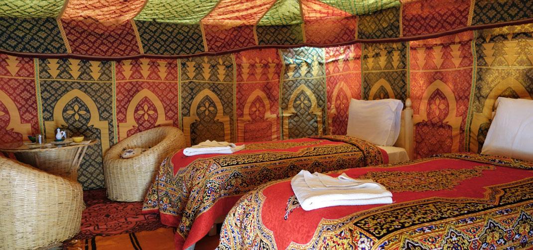 Luxury bivouac in the desert