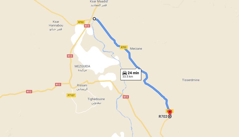 Erfoud - Café du Sud Map